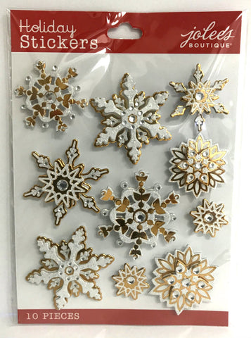 Jolee's Boutique 3D Stickers - Bling Snowflakes