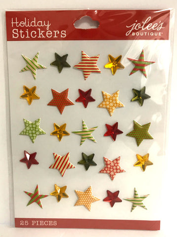 Jolee's Boutique 3D Stickers - Holiday Stars Repeat