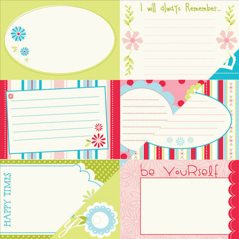Bazzill Cut-Outs - Divinely Sweet - Lickety Slip - 6x4 - Horizontal