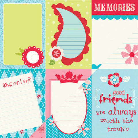 Bazzill Cut-Outs - Divinely Sweet - Lickety Slip - 6x4 - Vertical
