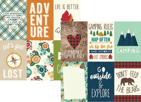 Simple Stories Papers - Cabin Fever - 4x6 Vertical Elements - 2 Sheets