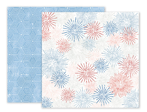 Pink Paislee Papers - Sweet Freedom - Paper 03 - Two Sheets