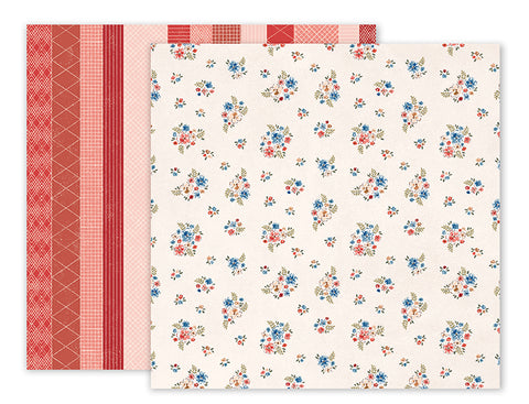 Pink Paislee Papers - Sweet Freedom - Paper 05 - Two Sheets