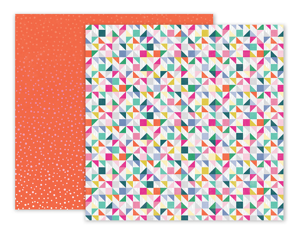 Pink Paislee Papers - Oh My Heart - Paper 05 - Two Sheets