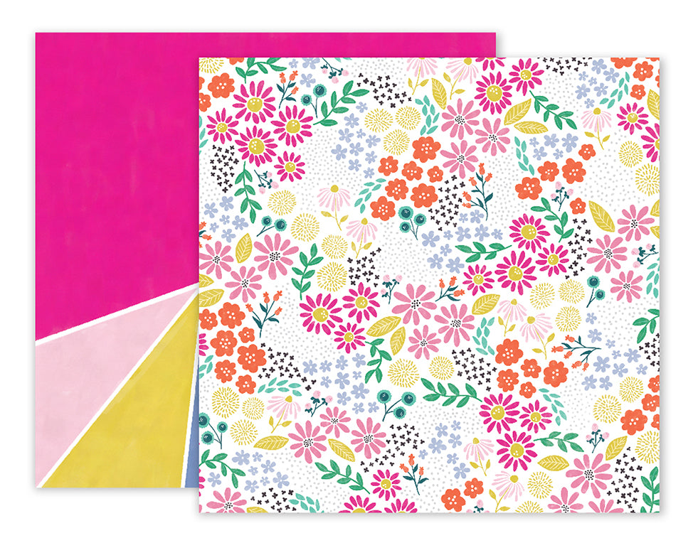 Pink Paislee Papers - Oh My Heart - Paper 13 - Two Sheets
