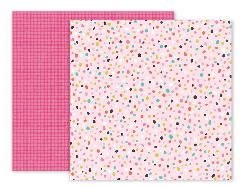 Pink Paislee Papers - Oh My Heart - Paper 19 - Two Sheets