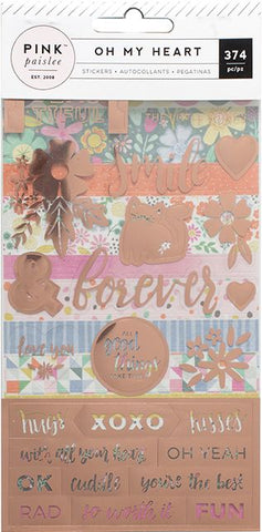 Pink Paislee Sticker Book - Oh My Heart - Rose Gold Foil