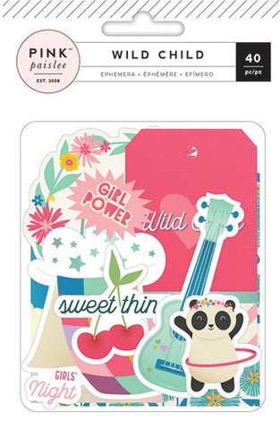 Pink Paislee Ephemera - Wild Child - Girl