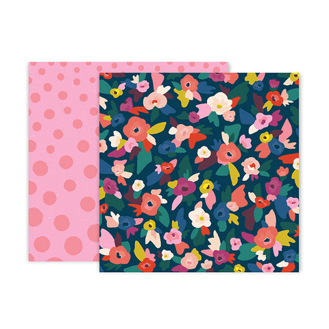 Pink Paislee Papers - Pick-Me-Up - Paper 02 - Two Sheets