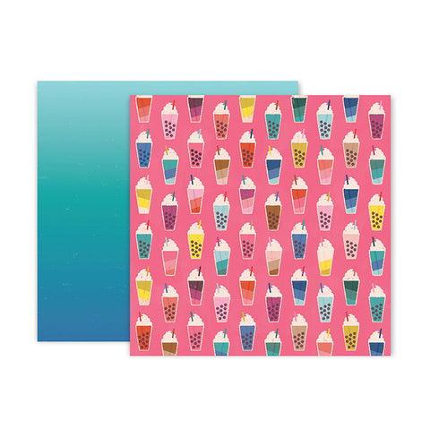 Pink Paislee Papers - Pick-Me-Up - Paper 04 - Two Sheets