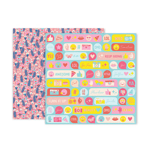 Pink Paislee Papers - Pick-Me-Up - Paper 08 - Two Sheets