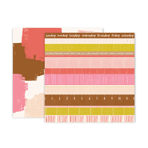 Pink Paislee Papers - Pick-Me-Up - Paper 12 - Two Sheets