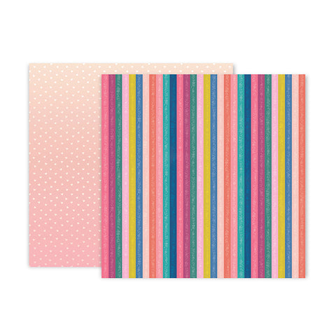 Pink Paislee Papers - Pick-Me-Up - Paper 16 - Two Sheets