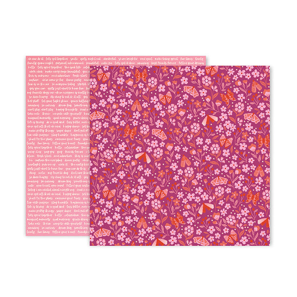 Pink Paislee Papers - Pick-Me-Up - Paper 17 - Two Sheets