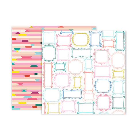Pink Paislee Papers - Pick-Me-Up - Paper 19 - Two Sheets