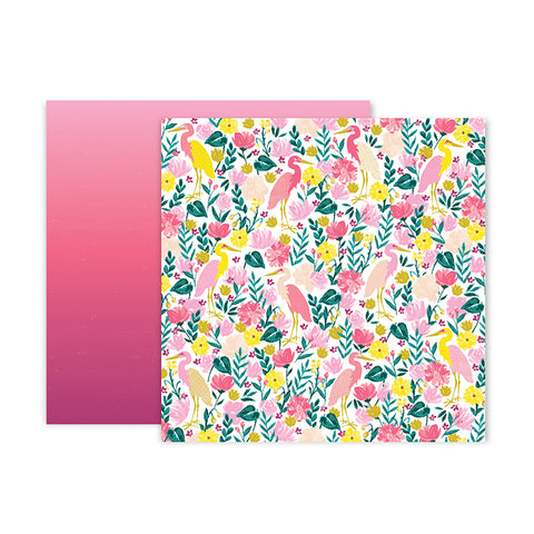 Pink Paislee Papers - Pick-Me-Up - Paper 23 - Two Sheets