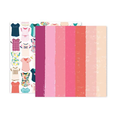 Pink Paislee Papers - Pick-Me-Up - Paper 24 - Two Sheets