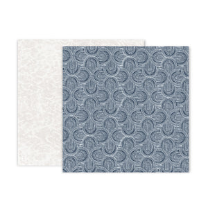 Pink Paislee Papers - Indigo & Ivy - Paper 11 - Two Sheets