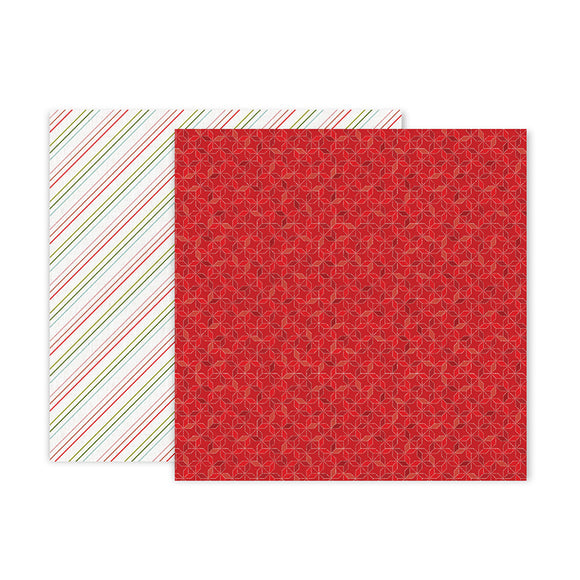 Pink Paislee Papers - Together for Christmas - Paper 06 - Two Sheets