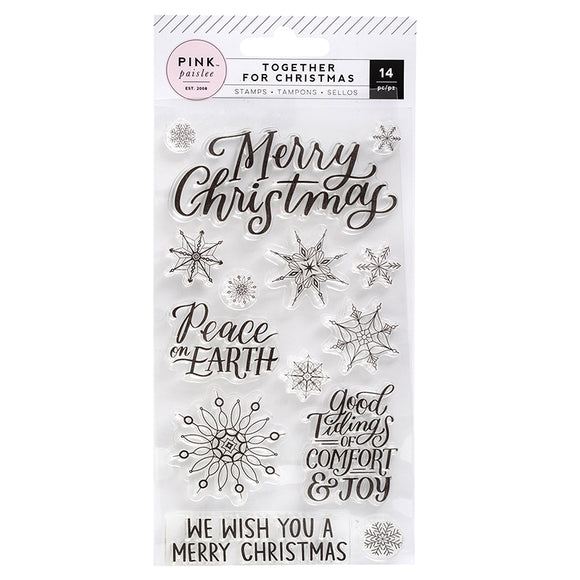 Pink Paislee Clear Stamp Set - Together for Christmas