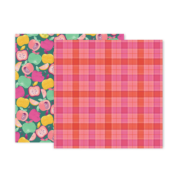 Pink Paislee Papers - Truly Grateful - Paper 12 - Two Sheets
