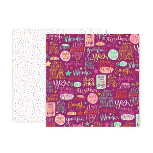 Pink Paislee Papers - Truly Grateful - Paper 17 - Two Sheets