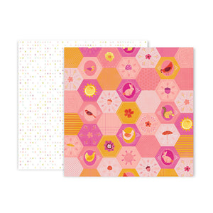 Pink Paislee Papers - Truly Grateful - Paper 21 - Two Sheets
