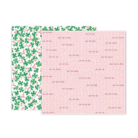 Pink Paislee Papers - Lucky Us - Paper 07 - Two Sheets