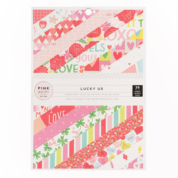 Pink Paislee 6x8 Paper Pad - Lucky Us