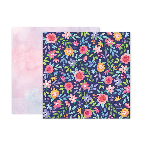 Pink Paislee Papers - Bloom Street - Paper 02 - Two Sheets