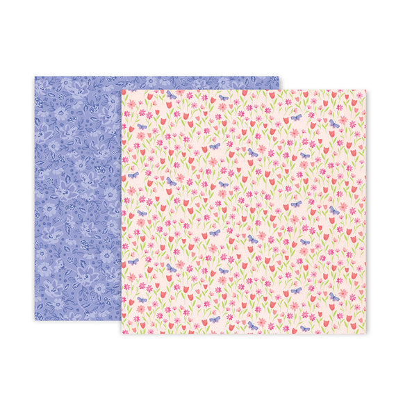 Pink Paislee Papers - Bloom Street - Paper 03 - Two Sheets