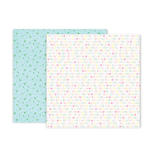 Pink Paislee Papers - Bloom Street - Paper 04 - Two Sheets