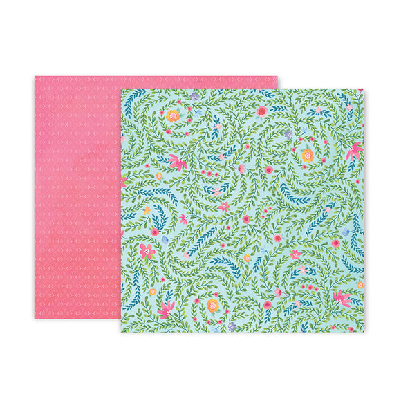 Pink Paislee Papers - Bloom Street - Paper 05 - Two Sheets