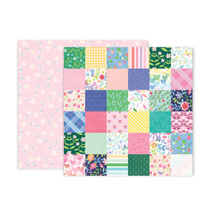 Pink Paislee Papers - Bloom Street - Paper 07 - Two Sheets