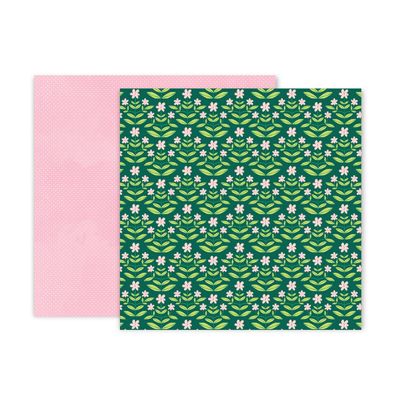 Pink Paislee Papers - Bloom Street - Paper 09 - Two Sheets