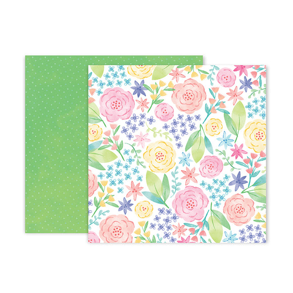 Pink Paislee Papers - Bloom Street - Paper 12 - Two Sheets