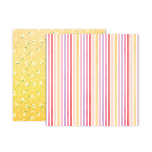 Pink Paislee Papers - Bloom Street - Paper 14 - Two Sheets