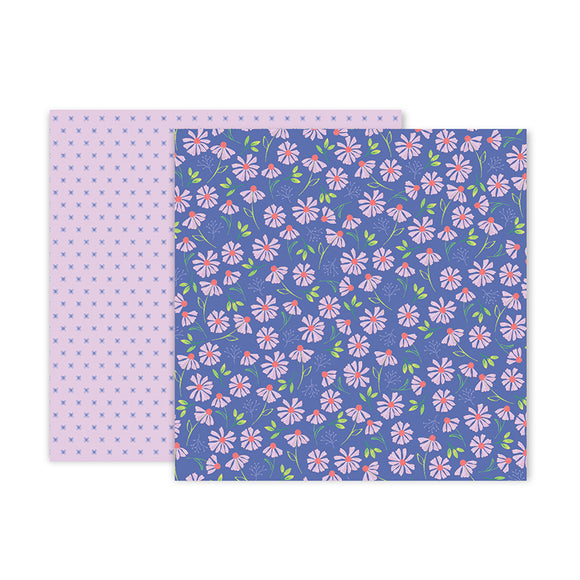 Pink Paislee Papers - Bloom Street - Paper 15 - Two Sheets