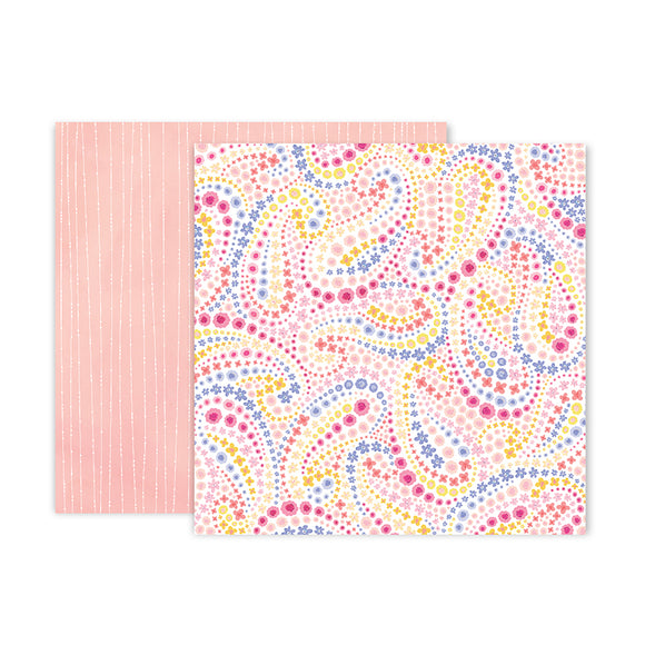 Pink Paislee Papers - Bloom Street - Paper 18 - Two Sheets