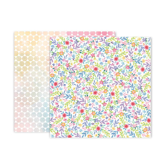 Pink Paislee Papers - Bloom Street - Paper 23 - Two Sheets