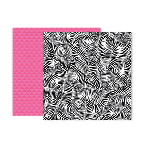 Pink Paislee Papers - 5th & Monaco - Paper 02 - Two Sheets