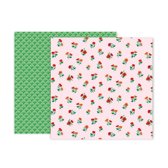 Pink Paislee Papers - 5th & Monaco - Paper 06 - Two Sheets
