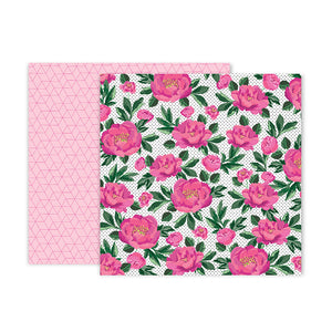 Pink Paislee Papers - 5th & Monaco - Paper 12 - Two Sheets