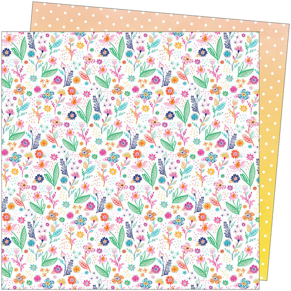 American Crafts Papers - Paige Evans - Go the Scenic Route - Paper 14 - 2 Sheets