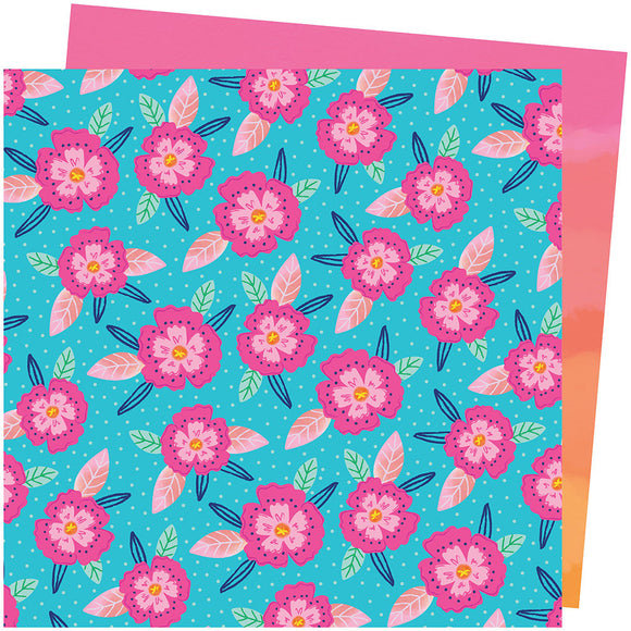 American Crafts Papers - Paige Evans - Go the Scenic Route - Paper 24 - 2 Sheets