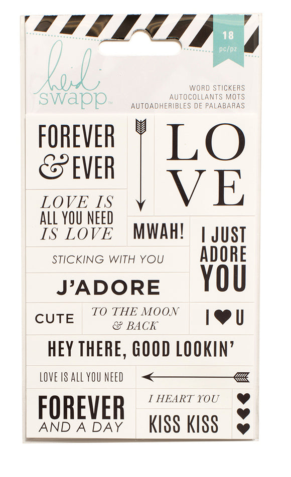 Heidi Swap Word Jumbles Stickers - Forever & Ever - Black