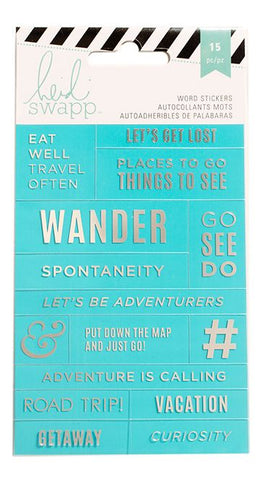 Heidi Swap Word Jumbles Stickers - Let's Get Lost - Teal & Silver