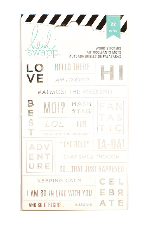 Heidi Swap Word Jumbles Stickers - Love - White & Silver