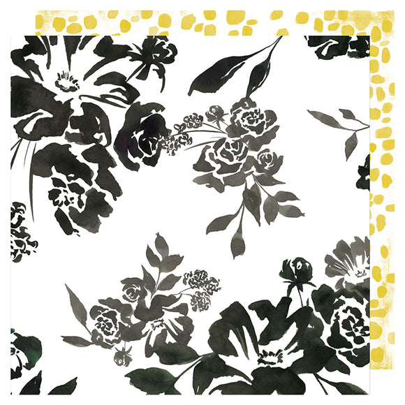 Heidi Swapp Papers - Honey & Spice - Flourish - 2 Sheets