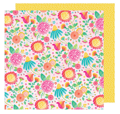 American Crafts Papers - Hello Spring - Honey Bunny - 2 Sheets
